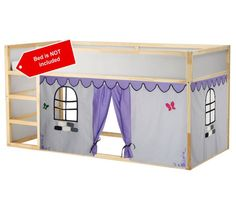 Playhouse made from cotton fabrics to fit your bunk-style bed. Bunk Bed Playhouse, Bunk Bed Tent, Bunk Beds, Kids Bed Tent, Loft Bed Curtains, Ikea Kura Hack, Space Theme, Bed Styling, Kid Beds