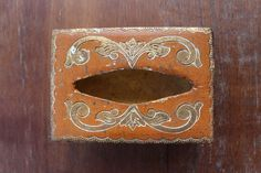 Vintage Hand Painted Italian Tissue Holder by maddoxandrose