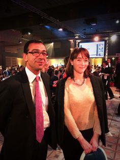 Delphine Ernotte Cunci et Vivek Badrinath, prix Women for change #wf13 @Liz Murrihy