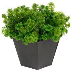 Faux greenery arrangement in a metal planter.   Product: Faux plant arrangementConstruction Material: Faux greenery ...