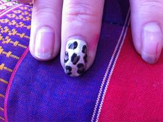 Leopard print nails created with Jessica Custom Nail Colours!