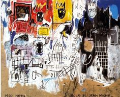 By Jean Michel Basquiat (1960-1988), 1981, Crowns, Mixed technique, Private collection.