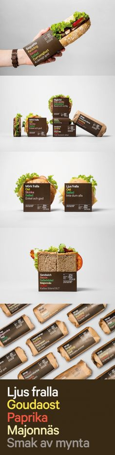 Unique Packaging Design on the Internet, Fast Food by BVD #packaging #packagingdesign #sandwich