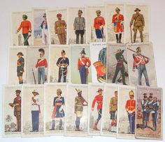 22 Players Cigarette Cards Vintage Uniforms Military for scrapbooking collage altered art collectors by scrapitsideways, $6.60