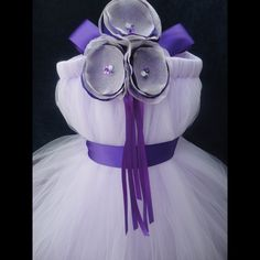 Flower Girl Dress, Tutu, Tutus, Portrait Dress, Weddings, Flowergirl, Summer, Spring, Winter, Fall, Purple Flowergirl Dress