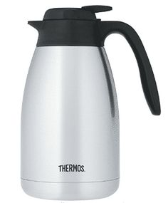 Thermos 51 Ounce Vacuum Insulated Stainless Steel Carafe One With Nature, Buyers Guide, Carafe, Kettle, Stainless Steel, Coloring Books, Top, Floral, Vintage Coloring Books