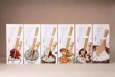 Packaging for chopstick set and rice scoop [Green in Hand Formosan Cypress Chopsticks Set and Cypress Rice Scoop] Rice Packaging, Smart Packaging, Brand Packaging, Design Visual, Creative Design, Japanese Graphic Design, Japan Design, Chopsticks, Packaging Design Inspiration