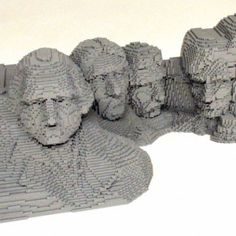Mt. Rushmore Replica by Nathan Sawaya