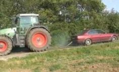 Fendt tractor vs BMW Car - Plidd World