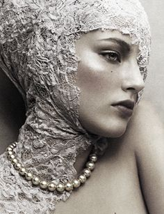 "Ruslana Korshunova in ""Pearl Perfection"" by Junji Hata | Vogue Japan"
