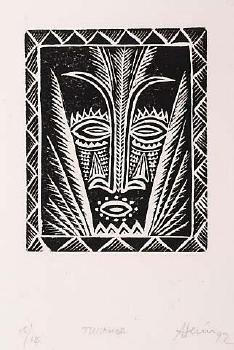 Fatu Feu'u Tui Samoa - Auckland Art Gallery Auckland Art Gallery, Polynesian Art, European Paintings, Black Paper, South Pacific, Large Art, Tribal Tattoos, Printmaking, Art Projects
