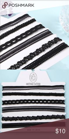 6 piece choker set! 🖤🖤 Looove these chokers! Such a cute set! Jewelry Necklaces
