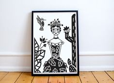 Print Frida Cordel Arte Popular, String Art, Art Images, Green And Grey, Hand Embroidery, Cactus, Banner, Draw, Rustic