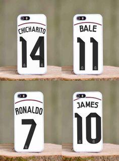 Real Madrid season 2014 2015 iphone 4 4s 5 5s 5c case cover . Ronaldo Chicharito James Bale