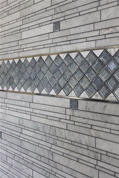 2 x 2 Ice & Bianco Carrara Waterfall Backsplash Ideas, Kitchen Backsplash, Carrara, Barn Wood, Master Bath, Tiles, Waterfall, Louvre, Stone