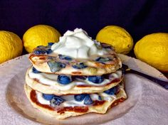 Transform your next Sunday brunch with pancakes that are light on the butter & sugar!
