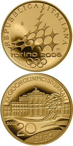 Olympic Winter Games 2006 in Turin - Palazzo Madame.Country: Italy Mintage year: 2005 Face value: 20 euro Diameter: mm Weight: g Alloy: Gold Quality: Proof Mintage: pc proof Piece Euro, Numismatic Coins, Bart Starr, Coin Dealers, Painting Words, Gold And Silver Coins, Gold Aesthetic, Gold Bullion, World Coins
