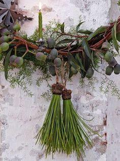 Pine needle sprigs