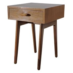 Important 1940 MOMA Organic Design Competition bed side table