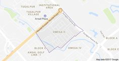 Map of NRI City, Omega II, Greater Noida, Uttar Pradesh 201310