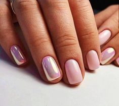 Nail art is a very popular trend these days and every woman you meet seems to have beautiful nails. It used to be that women would just go get a manicure or pedicure to get their nails trimmed and shaped with just a few coats of plain nail polish. Fancy Nails, Trendy Nails, Fancy Nail Art, Nude Nails, My Nails, Short Nails Shellac, Short Nails Art, Acrylic Nails Chrome, Short Pink Nails