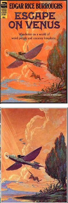 ROY KRENKEL JR. - Escape On Venus by Edgar Rice Burroughs - 1969 Ace Science Fiction Classic #21561