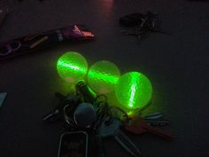 Glowing Golf Balls with Glow Stick Inserts http://glowproducts.com/noveltyglowproducts/nightgolfball/ #GlowGolf