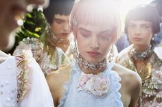 Backstage at Chanel Resort 2013 - photographed by Benoit Peverelli for Vogue UK