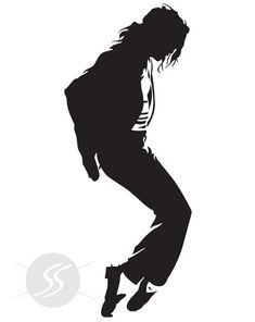 Michael Jackson Silhouette Template, Stencil, Sjabloon, showing one of his famous moves. Stencil Art, Image, Silhouette Art, Art, Silhouette, Pictures, Black And White, Pop Art, Stencils