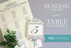Free Printables! DIY wedding seating chart and table numbers. Elegant and oh so simply to create at home. #DownloadandPrint http://www.downloadandprint.com/printable-seating-chart-table-number-template/