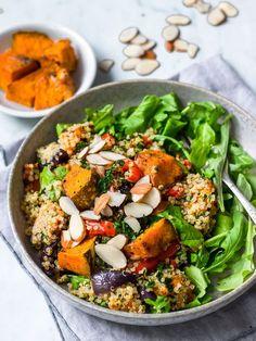 honey roast pumpkin quinoa salad