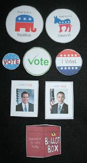 Classroom Freebies: Election Voting Buttons