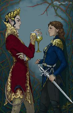 Prince Cardan and Jude from Holly Black's awesome faerie fantasy book Cruel Prince & Wicked King Book Characters, Fantasy Characters, Character Concept, Character Art, Lestat And Louis, Holly Black Books, Queen Of Nothing, Kamigami No Asobi, Fanart