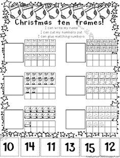 Christmas ten frames freebie!