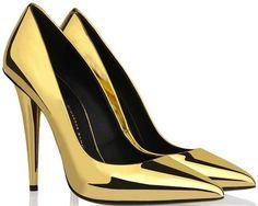Giuseppe Zanotti Gold Mirror Patent Pumps #giuseppezanottiheelssilver #giuseppezanottiheelspumps
