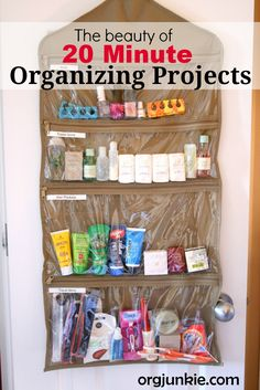 The Beauty of 20 Minute Organizing Projects