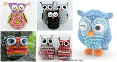 Amigurumi Crochet Owl Free Patterns Instructions: Crochet Owl Toys, Ornaments, Baby Gifts, Home Decor, Owl Pillows and Crochet Butterfly Free Pattern, Owl Crochet Patterns, Crochet Owls, Owl Patterns, Crochet Motif, Crochet Yarn, Free Crochet, Owl Craft Projects, Owl Crafts