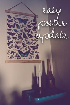 easy poster framing // how to hang a poster like a grown up // www.thedempsterlogbook.com #poster #frame