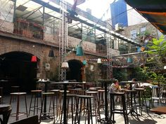 Szimpla Kert (Simple Garden) in Budapest - one of the most frequented ruin pubs of Budapest (HU) by tourists