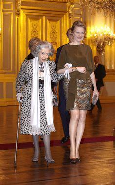 Queen Fabiola and Princess Mathilde