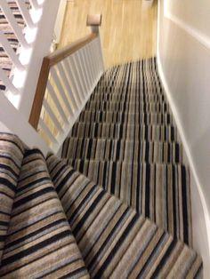 Best Striped Carpet On Stairs Around Corners Decorating 400 x 300