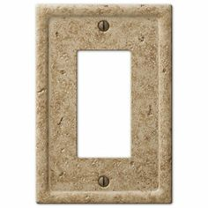 Amerelle Texture Stone 1 Decora Wall Plate - Light Noche - - The Home Depot Rustic Kitchen Design, Shabby Chic Kitchen, Switch Plate Covers, Switch Plates, Kitchen Outlets, Table Cafe, Residential Lighting, Stone Texture, Stone Veneer