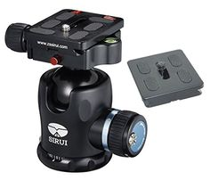 Sirui K-20X 38mm Ballhead with Quick Release, 55.1 lbs Load Capacity - With Extra ZAYKiR Quick Release Plate *** Click on the image for additional details.