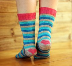 I Heart Striped Socks — Tanis Fiber Arts