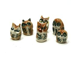 {little owl family of 6} by song & branch... why do I all of a sudden love owl stuff?