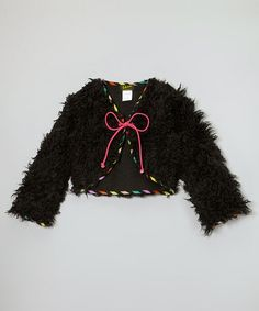 Take a look at this Black Layla Jacket - Toddler & Girls by ZAZA couture on #zulily today!