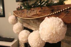DIY Christmas Pom Pom Garland