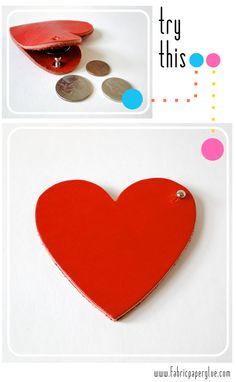 Fabric Paper Glue | DIY Leather Heart Coin Purse Tutorial