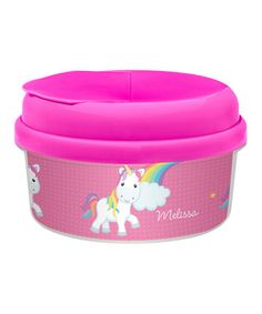 Rainbow Unicorn Personalized Snack Container by Spark & Spark #zulily #zulilyfinds