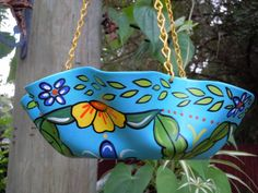 Hand Painted Mexican Talavera Style RECYCLED MELTED by lecraftee, $25.00